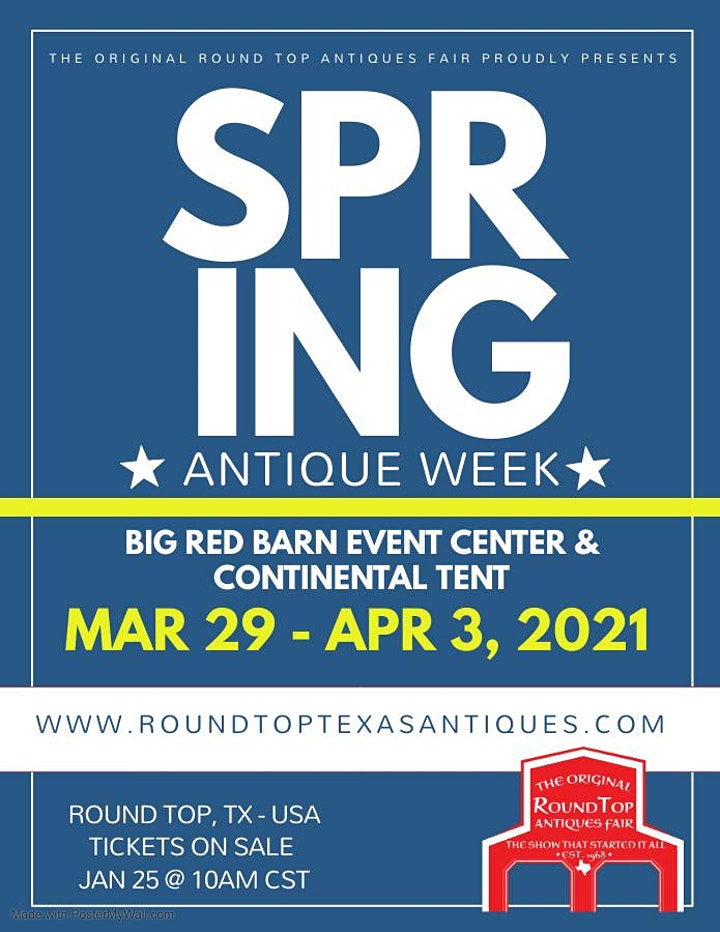 Original Round Top Antiques Fair - Spring 2021 - 50+ Years of Fabulous image