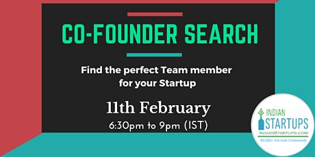 Co-Founder (Founding Team) Search Event tickets