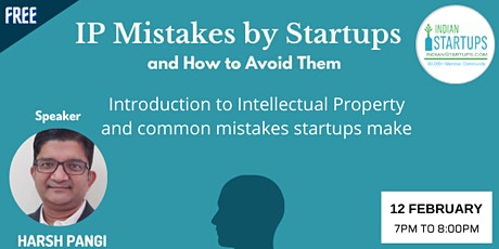 IP Mistakes by Startups and How to Avoid Them tickets