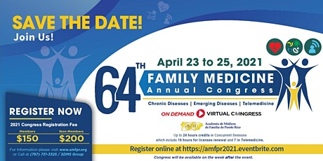 64th  Annual Congress: Puerto Rico Academy of Family Physician tickets