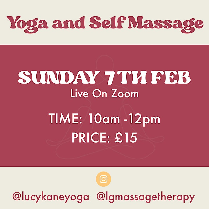 Sunday Nourish- Yoga and Self Massage with Lucy and Lorna image