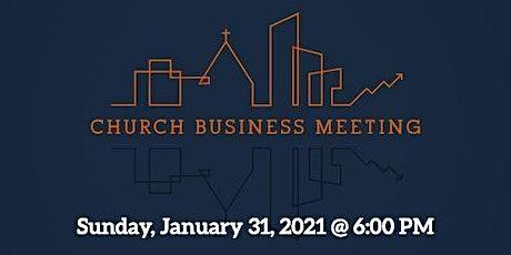 Crossroads Church Annual Business meeting tickets