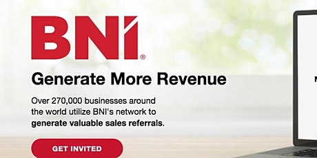 ONLINE Business Networking - BNI Capital Rainmakers tickets