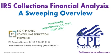 IRS Collections Financial Analysis: A Sweeping Overview tickets