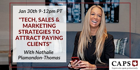 RECORDING OF Tech, Sales & Marketing Strategies  w/ Nathalie tickets