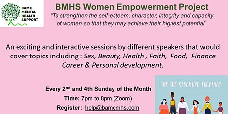 BMHS Women Empowerment Events Tickets