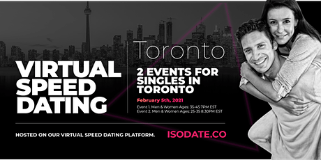 Isodate's Toronto Virtual Speed Dating tickets