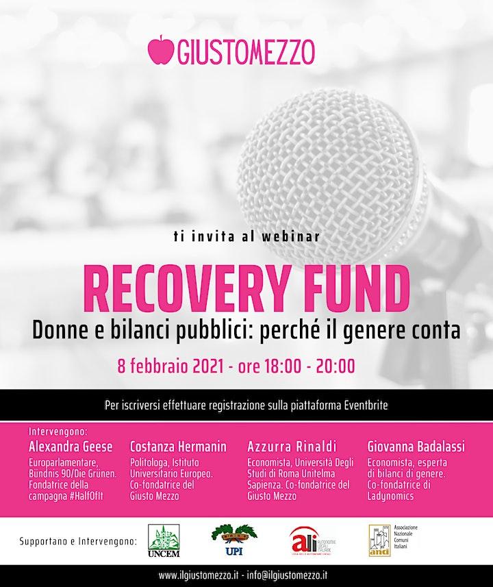 Immagine Recovery Fund - Donne e bilanci pubblici: perché il genere conta