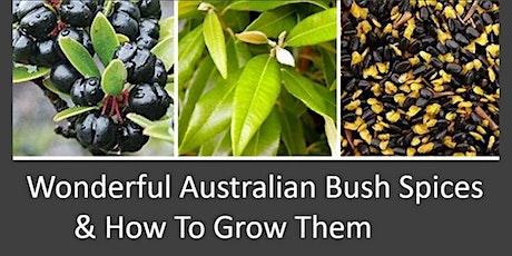 WONDERFUL AUSTRALIAN BUSH SPICES - GROW THEM IN YOUR GARDEN- GROW SPICE tickets