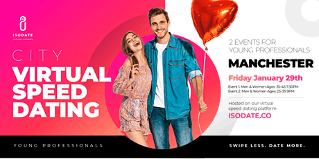 Isodate's Manchester Virtual Speed Dating tickets