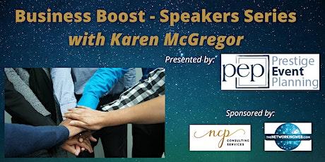 Business Booster - Speakers Series with Karen McGregor tickets