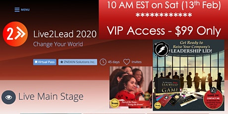 Live2Lead North Jersey 2020: Are you Ready to Change Your World! tickets
