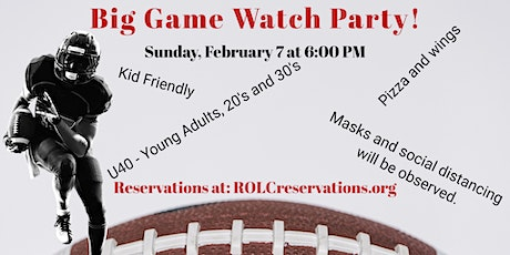 Young Adults (U-40) Big Game  Watch Party tickets