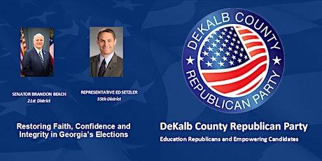 DEKALB COUNTY REPUBLICAN PARTY – FEBRUARY 20, 2021 BREAKFAST PROGRAM boletos