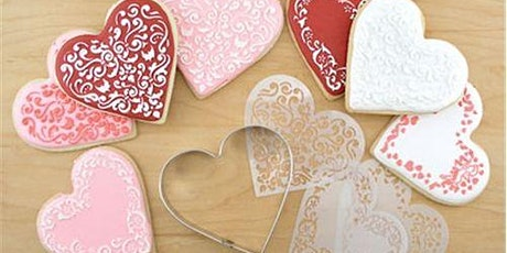 Valentines Day Stencil Sugar Cookie Decorating Class at Soule' Studio tickets