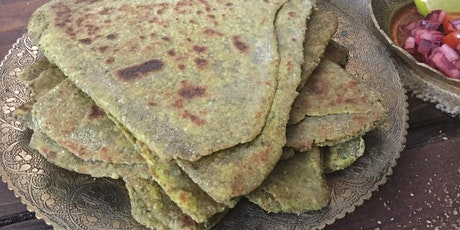 Triangular spinach paratha tickets