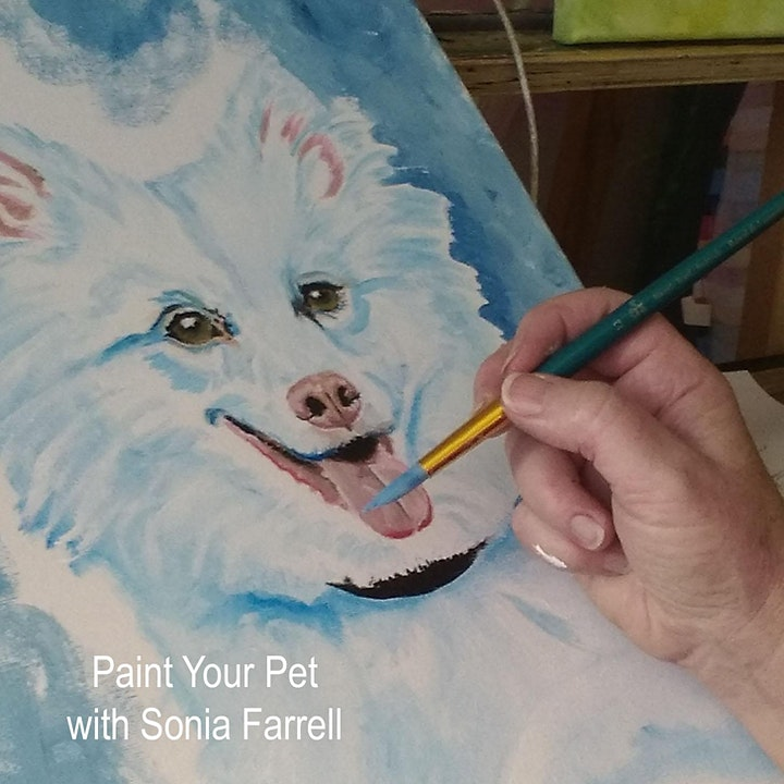 'Paint Your Pet' Session 2 of 2 with Sonia Farrell: Creative Hearts Art image