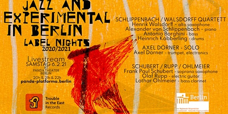 LIVESTREAM: JAZZ & EXPERIMENTAL IN BERLIN / LABEL NIGHTS #2 // #PANDAjazz Tickets