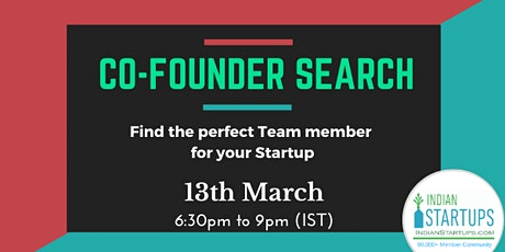 Co-Founder (Founding Team) Search tickets