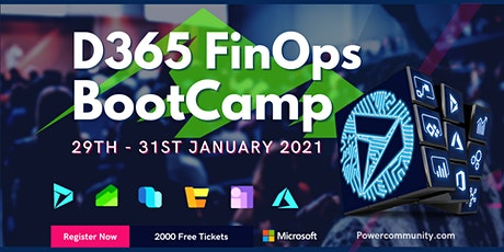Dynamics 365 FinOps Community Bootcamp tickets