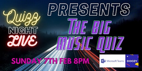 Quizz Night Live Presents : The Big Music Quiz tickets
