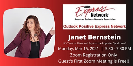 ABWA OPEN presents Janet Bernstein with 'Squash the Imposter Syndrome!' tickets