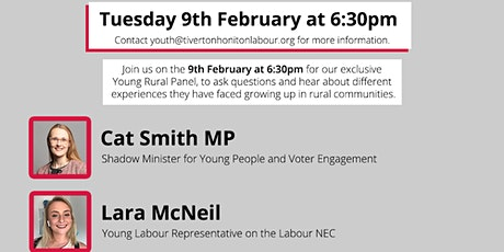 Young Rural Panel with Labour's Cat Smith MP & Lara McNeill , Mark Williams tickets
