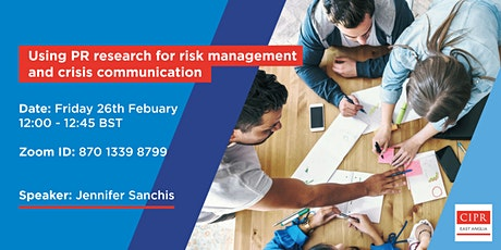 Using PR research for risk management and crisis communication tickets