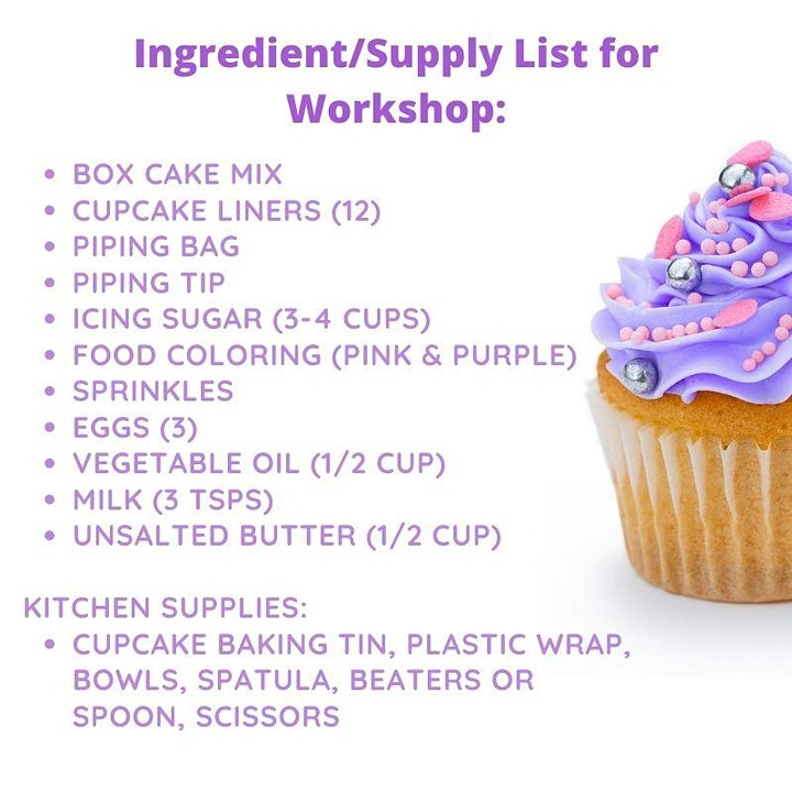 Cupcake Decorating & Nutrition Workshop image