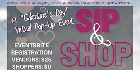 Sip & Shop Virtual Shopping Events tickets