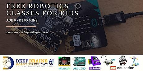 FREE Online Robotics Classes for Kids Age 11-15 | DeepBrains.AI tickets