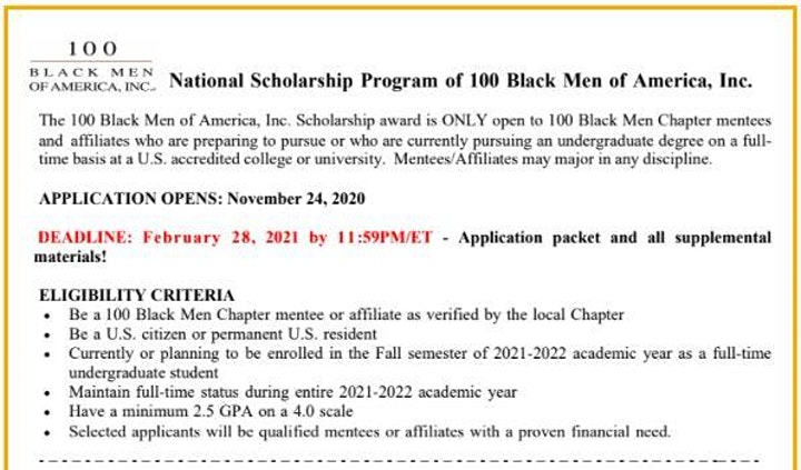 Scholars 2 Internships Program #100BlackMenPhilly image