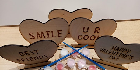 Wooden Valentine KIT (6pack) laser, holiday, make and take, Valentine's Day tickets
