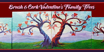 Family Trees Valentine's Painting (Virtual Instruction)