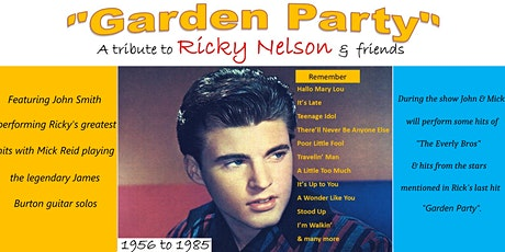 Garden Party A Tribute to Ricky Nelson & Friends tickets