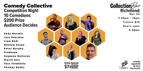 Comedy Collective Comp Night - March 23 @ the Collection Bar tickets