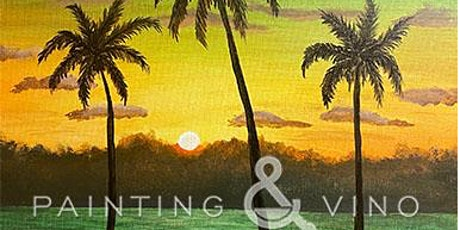"""Online Painting Class - """"Evening at the Beach"""" tickets"""
