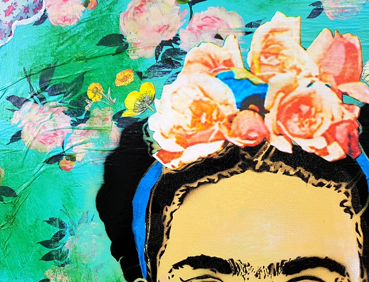 Pop Art Stencil Portraits -  Frida Kahlo image
