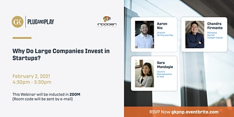 Why Do Large Companies Invest in Startups? tickets