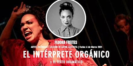 [LdA]  El Intérprete Organico y el Texto Dramático entradas