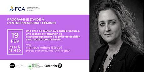Programme d'aide à l'entrepreneuriat féminin - Atelier de Monique H.-Bérubé billets