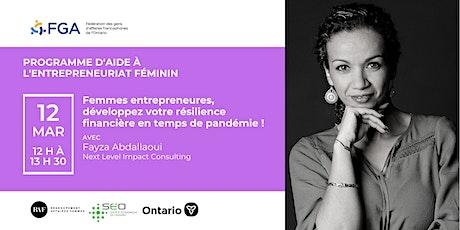 Programme d'aide à l'entrepreneuriat féminin - Atelier de Fayza Abdallaoui billets