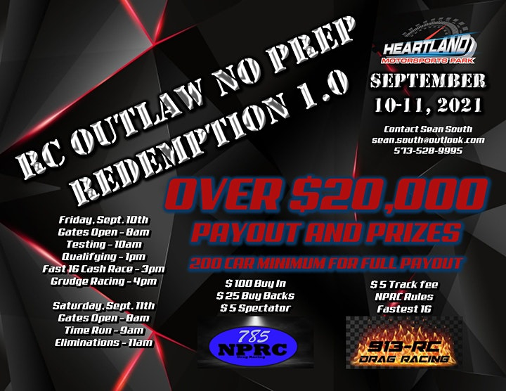 RC Outlaw No Prep Redemption 1.0  $20,000 + to win! image