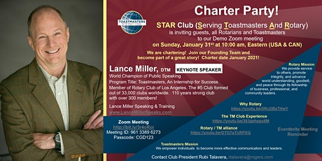 2021 Toastmasters and Rotary tickets