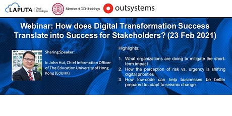 Sharing from CIO of EdUHK on Digital Transformation Success boletos