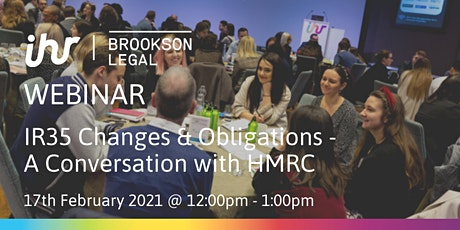 IR35 Changes & Obligations – A Conversation with HMRC tickets