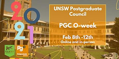 PGC O-week 2021 tickets