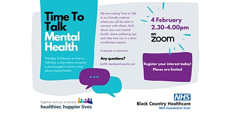 Time To Talk Mental Health tickets