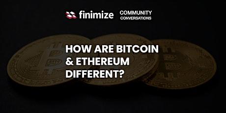 Bitcoin vs Ethereum tickets