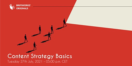 Content Strategy Basics Webinar tickets